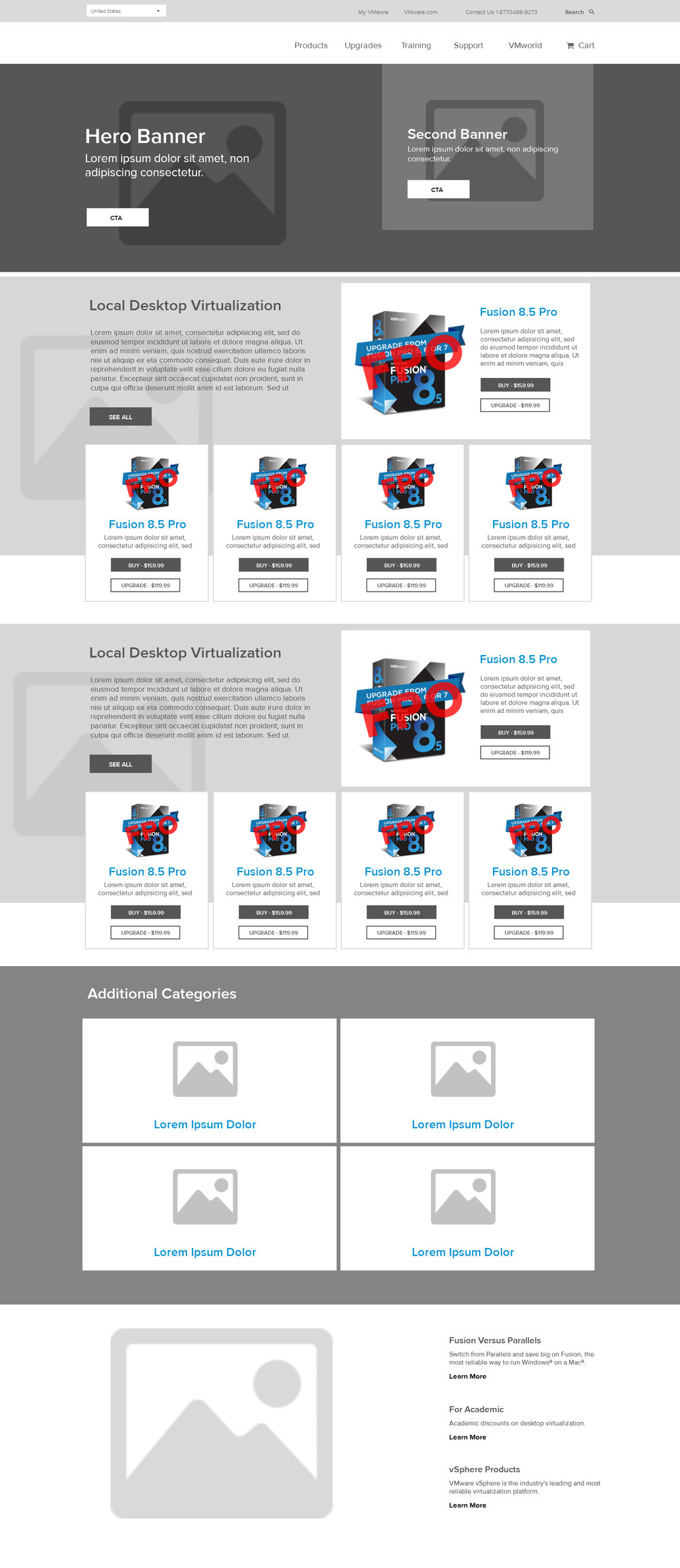Homepage wireframe 2