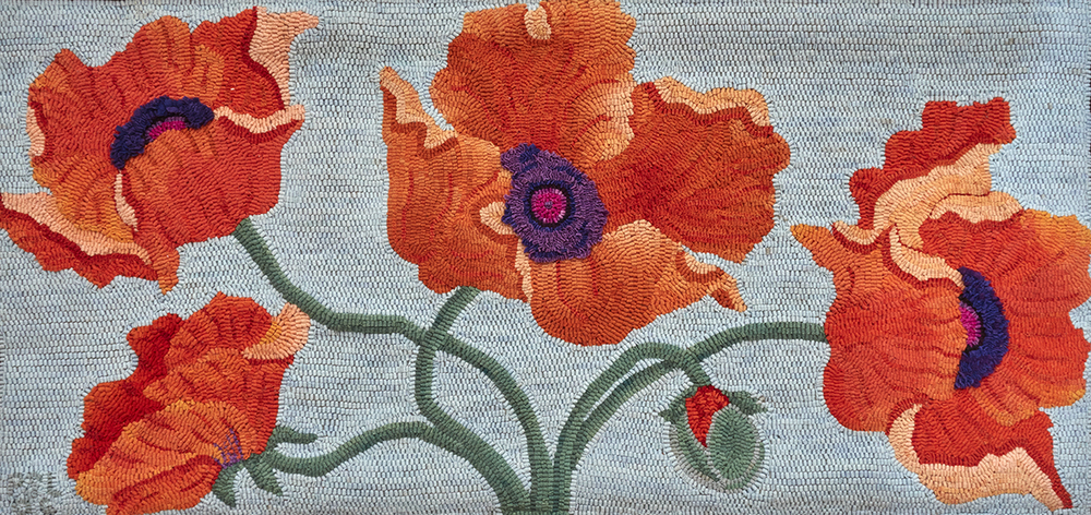 Five Brave and Gallant Airmen   Published in Rug Hooking Magazine, Sept/Oct 2007