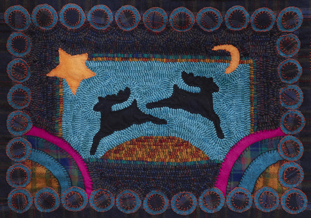Watch Those Deer   Designed in Bea Grant's Penny Rug Course