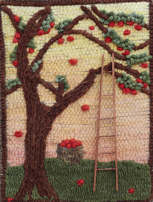 Apple Tree Jewel   Designed in Laura Boszomeny's Texture Techniques class
