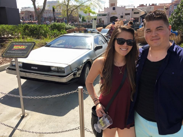 In April of this year (2016)with my sister in Orlando, FL.