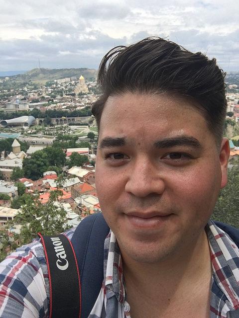 A selfie in Tbilisi, June 2016.