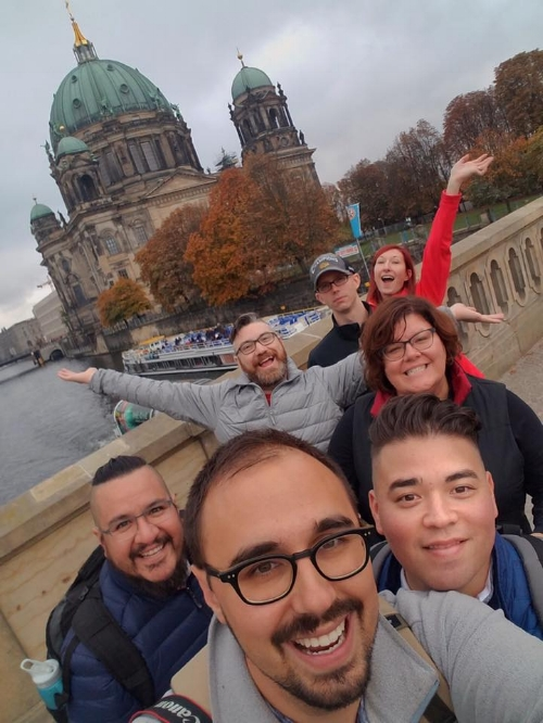 Down 25 lbs in Berlin, Germany, in mid-October, 2016 with my fiance and five of my best friends.