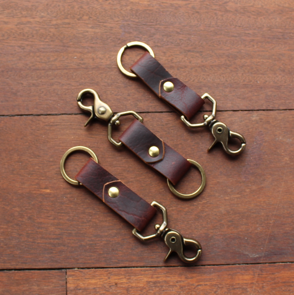 Bison Key Clip - Chocolate