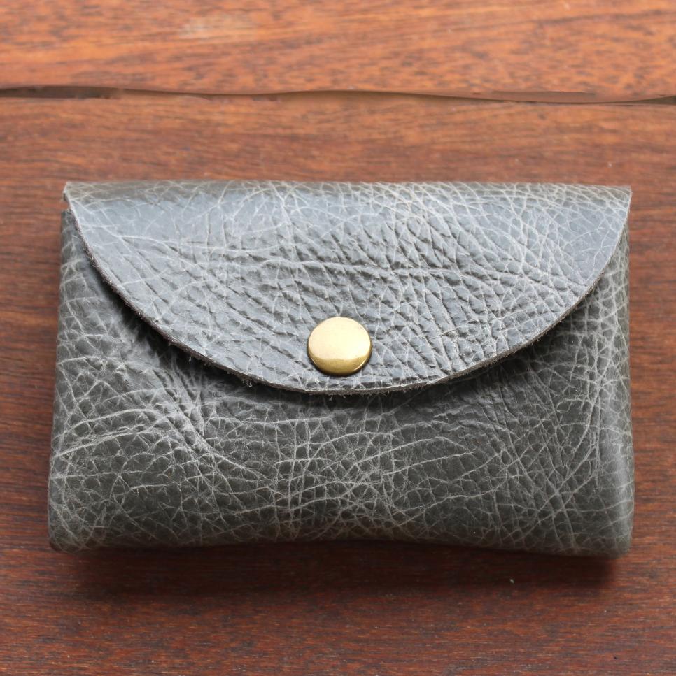Origami Wallet - Gray Buffalo