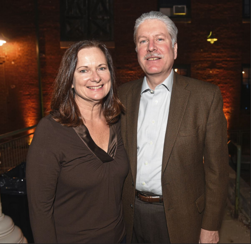 Sue and Scott Lammie, supporters of Radiant Hall since its beginning days in 2012.  Photo credit John Heller/Post-Gazette