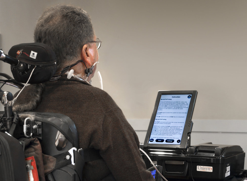 Making Voting Accessible to Everyone - UNISYNAccessibility / usability testing with people with disabilities