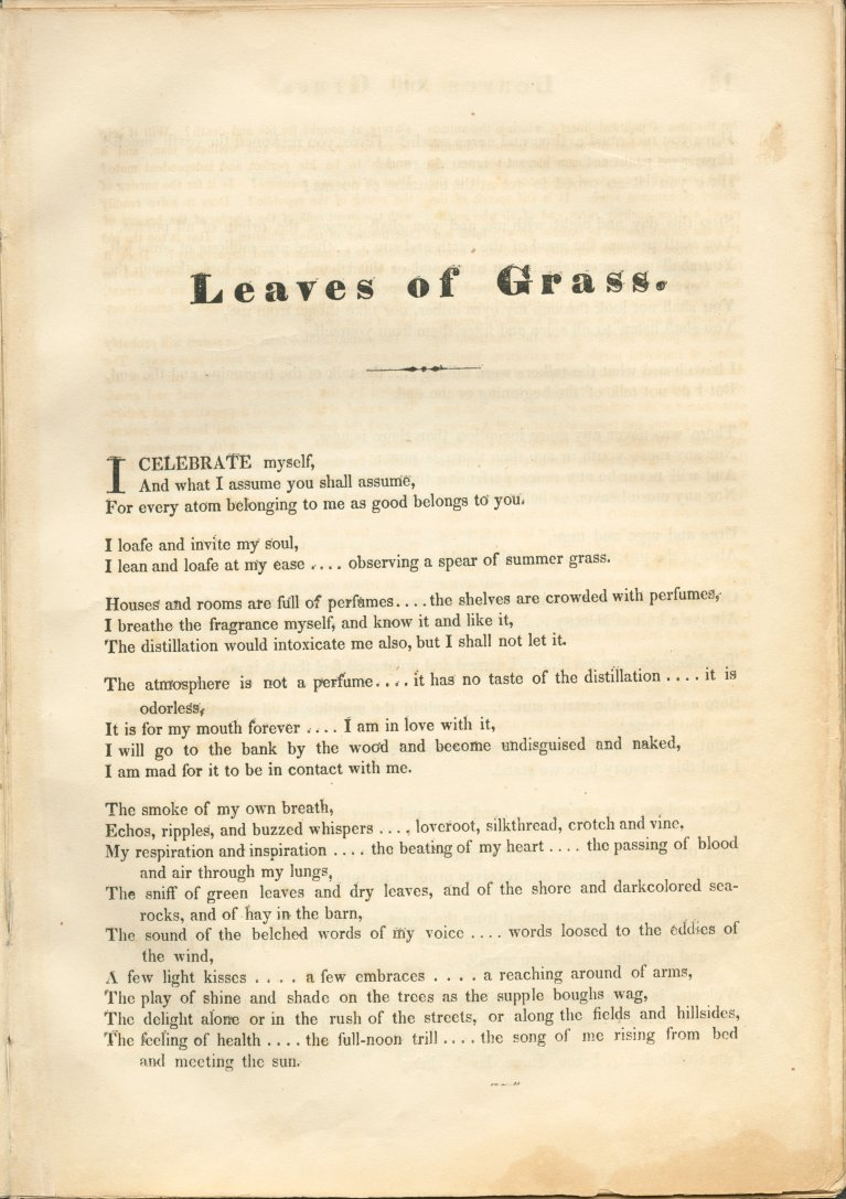 Title and Revision: 1855 (Leaves of Grass)