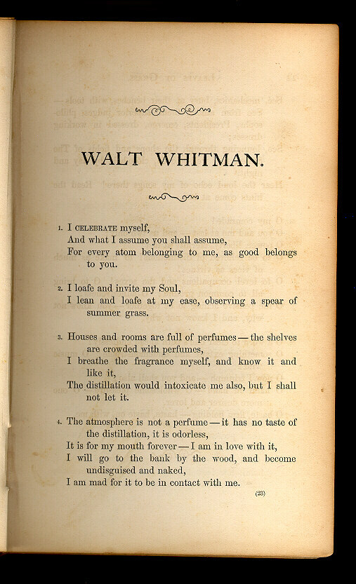 Title and Revision: 1860 (Walt Whitman)