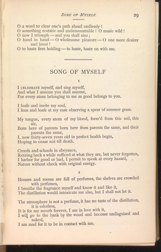 Title and Revision: 1881 (Song of Myself)
