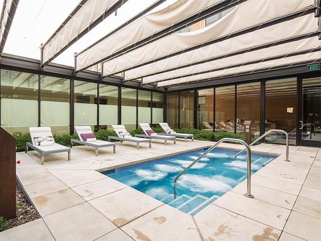 The gender-neutral environment of the spa, the cedar and stone design, thoughtful touches like fluffy brown robes and numerous co-ed amenities make the spa inviting to men and women alike.