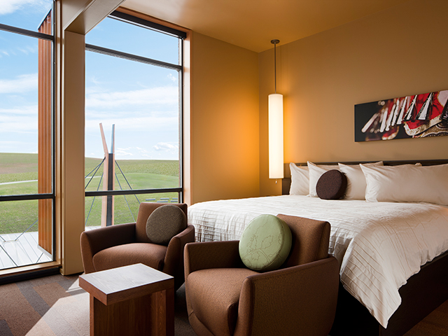 The hotel at Coeur d'Alene Casino features expansive views of the rolling hills and towering pines, 300 rooms, 14 suites, indoor swimming pool and 24-hour business center.