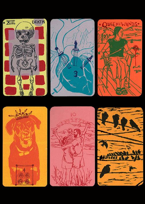 Tarot cards, screenprint