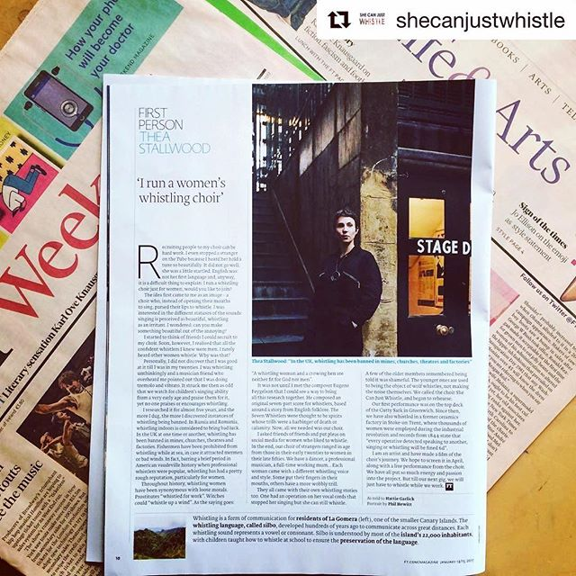 @shecanjustwhistle #repost THANK YOU @financialtimes weekend for giving our director Thea Stallwood such a wonderful First Person feature 🙏 https://www.ft.com/magazine @vicbhall @avniavniavni00 @peterlyonsmusic @daisy_beau