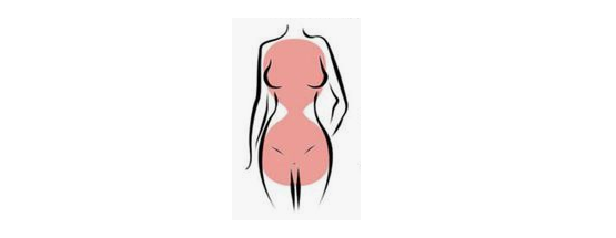 The hourglass  figure is one of the most commonly known body shapes. It is characterized by a smaller waistline and proportionate bust and hip measurements.   This body shape's best feature is its tiny waist. Hourglass shaped women should emphasize this area by using belts or dresses with waist detailing.