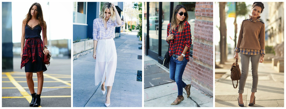 One staple piece in every woman's closet this fall is the beloved button-down. Whether worn around the waist, dressed up with a skirt, paired with everyday denim, or tucked underneath a warm sweater, a touch of plaid completes an ensemble and adds an additional touch of style.