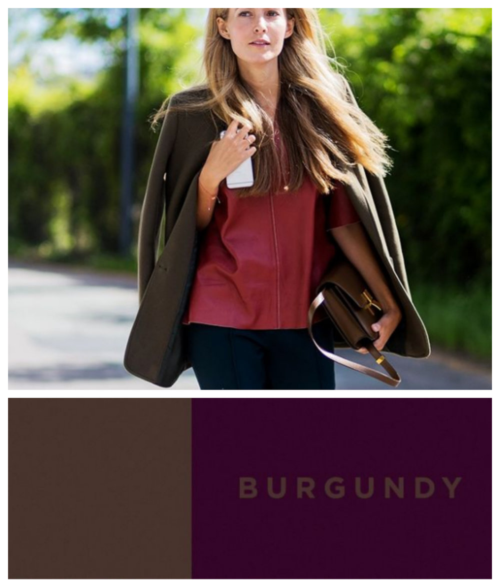 Lucky you! This seasons top two colors are stunning both together or separate. This season, brown is the new black and you will quickly discover how versatile this neutral truly is. Rich, luxurious brown pairs perfectly with the warm, deep purple tones found in burgundy.