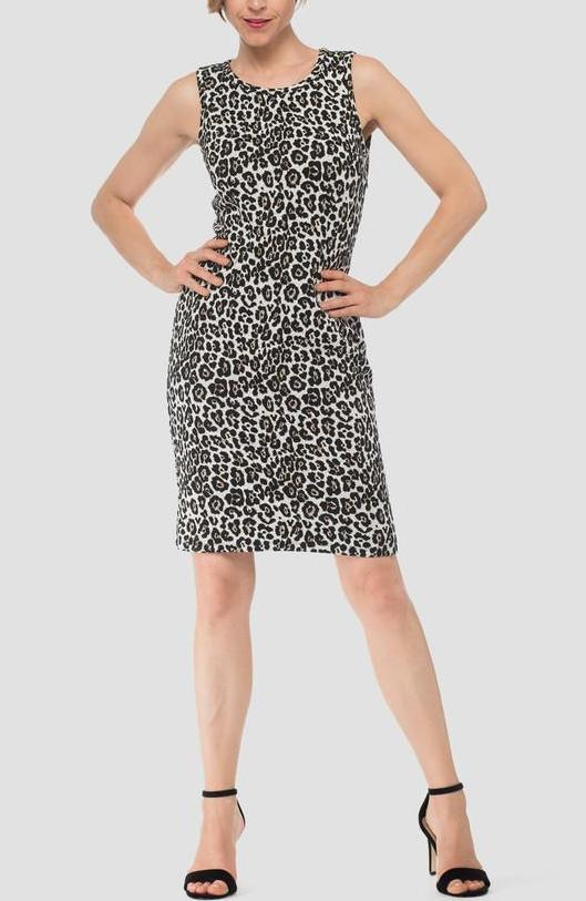Joseph Ribkoff Leopard Dress — Tracy Brent Collections