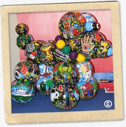 2009-2010 Haydel's Mardi Gras Bead Dog.  Proceeds donated to the Children's Hospital of New Orleans. |  Photo Credit