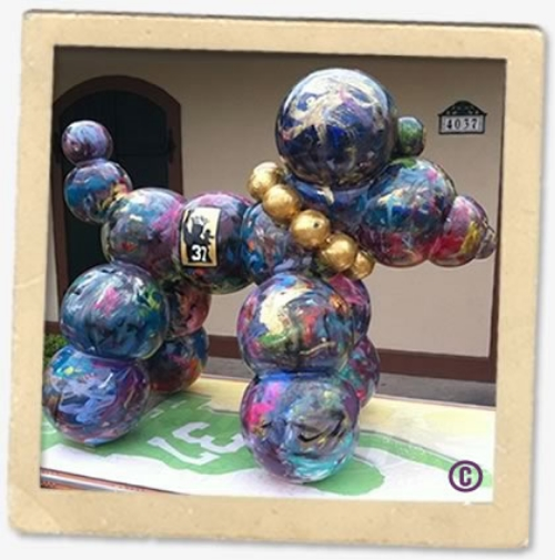 2012-2013 Haydel's Mardi Gras Bead Dog.  Proceeds donated to Team Gleason. |  Photo Credit