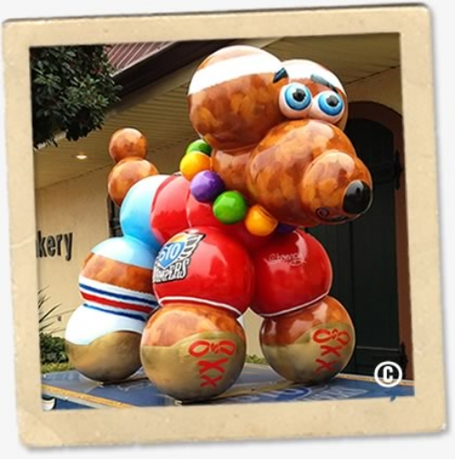 2014-2015 Haydel's Mardi Gras Bead Dog.  Proceeds donated to 610 Stompers Charities. |  Photo Credit