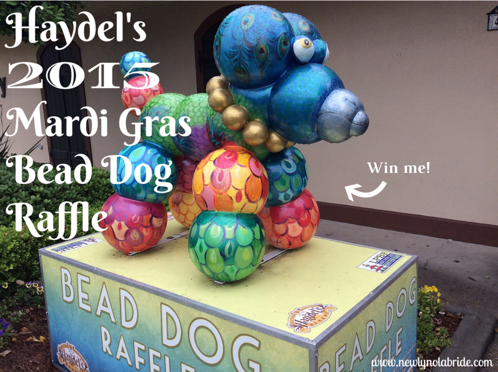 Haydel's Mardi Gras Bead Dog Raffle 2015: Win a life-sized bead dog and benefit the Lake Pontchartrain Basin Foundation!