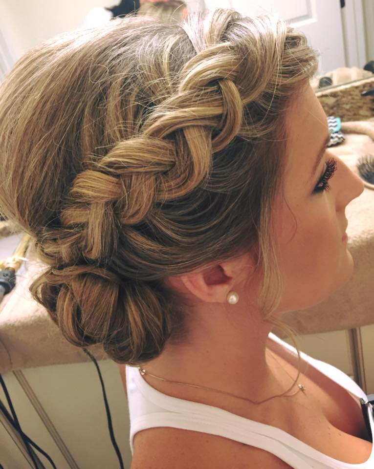 A classic bun with a modern, boho twist.  Super cute and definitely maintainable. | Hair:  Flawless Bride  |  Photo Credit