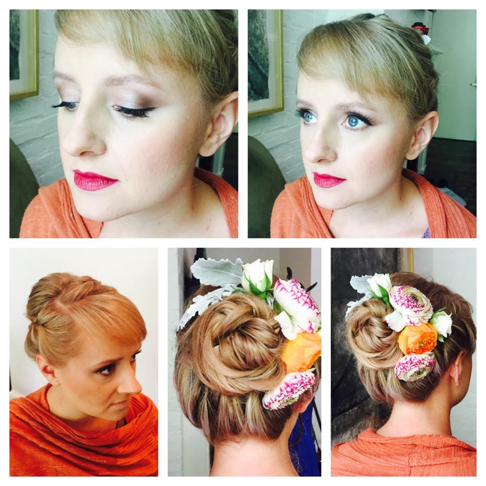 This hairstyle owns the perfect floral touch. | Hair:  Glam NOLA  |  Photo Credit