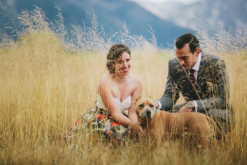 Love this family shot- not to mention the amazing backdrop.  |  Photo by  Morning Wild Photography  via  The Offbeat Bride