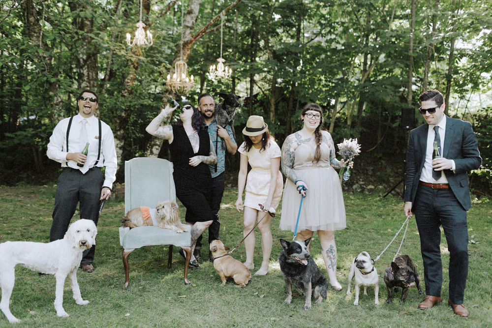 The details in this forest wedding were awesome- check out the chandeliers! | Photo by Tomasz Wagner Photo + Films via Rock n' Roll Bride
