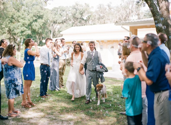 I still think bubble send-offs can be fun. :)  |  Photo by  Emily Katharine Photography  via  Ruffled Blog