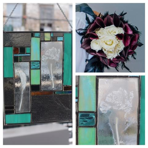 Photo collage created by Caitlin Waugh | Bouquet Photo taken by Wild Wonder Photography