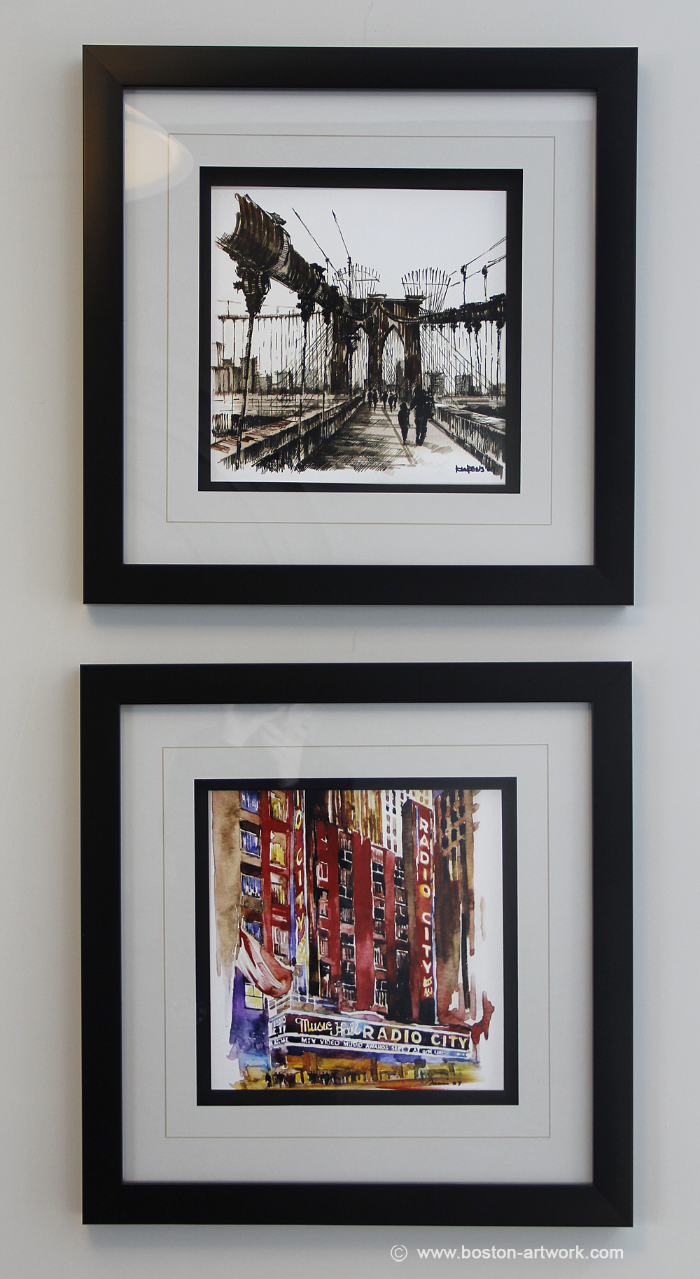 custom frames of new york art prints