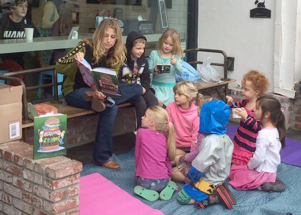Foodie Club reading at the Yogurt Shoppe, 2015.