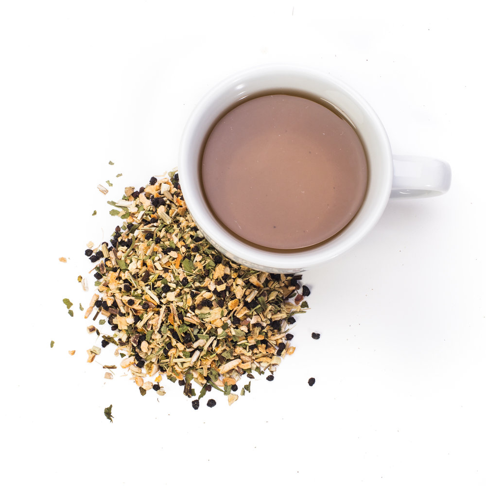 ULTIMATE ELDERBERRY - Your kids will be asking for this tea it's so good! This blend of herbs soothes a sore throat, eases that nagging cough, and kills bacteria. It's high in vitamin C and naturally sweet! (Bonus: this tea is great for singers)