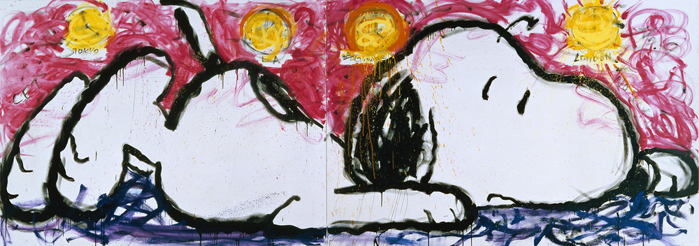 No Way Out | oil and varnish on canvas | 64″ x 180″ | 1994