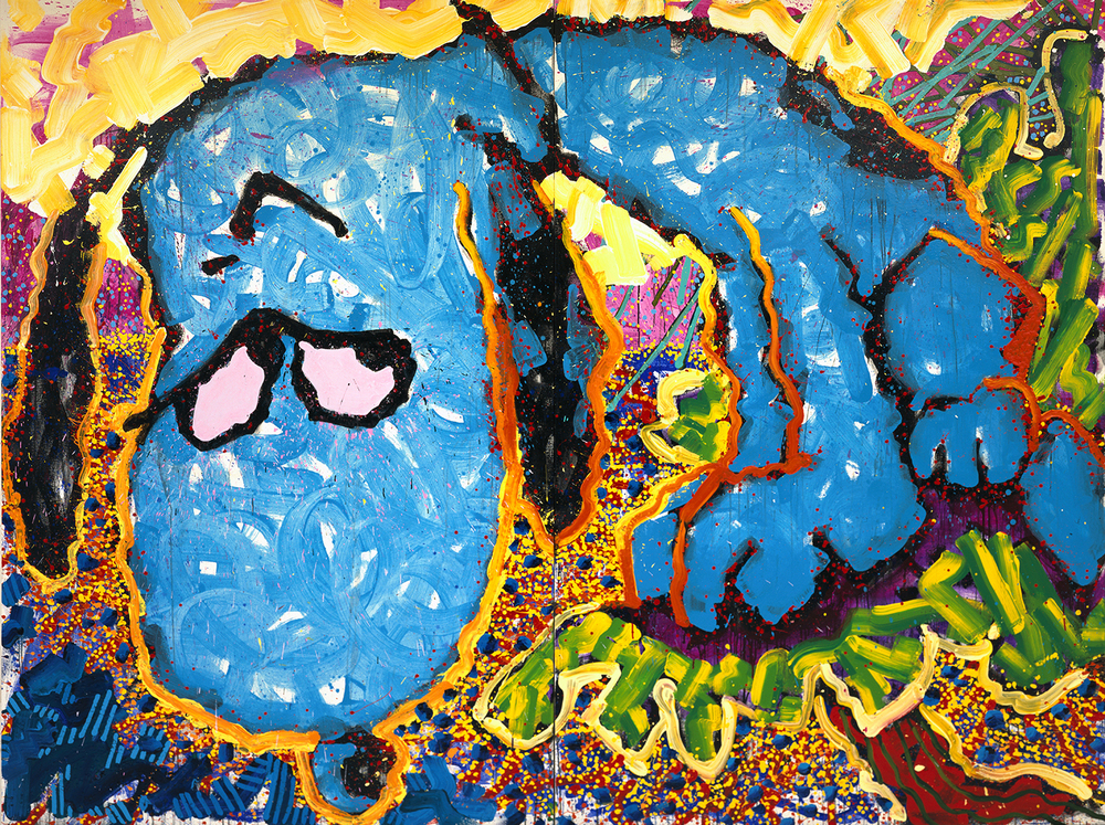 Hollywood Hound Dog | acrylic and enamel on canvas | 96″ x 128″ | 1999