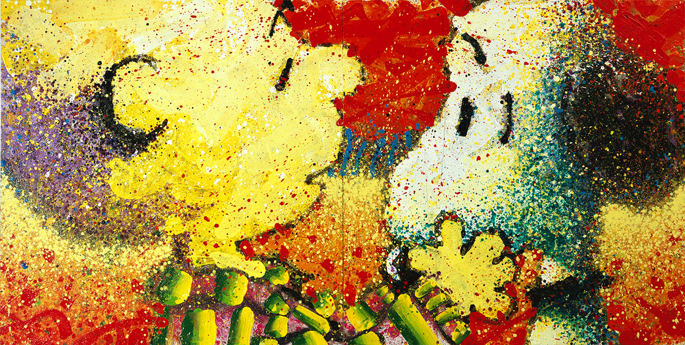 Dog Breath | acrylic and enamel on canvas | 64″ x 128″ | 2000
