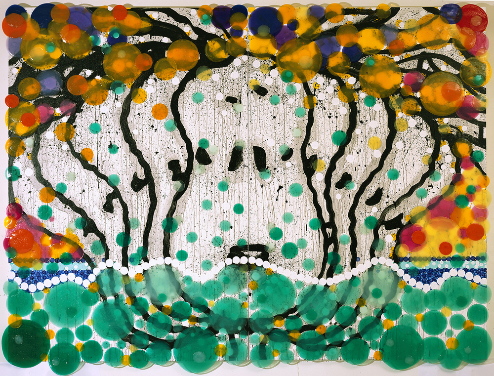 See Sick | acrylic enamel and varnish on wood | 56″ x 104″ | 2005