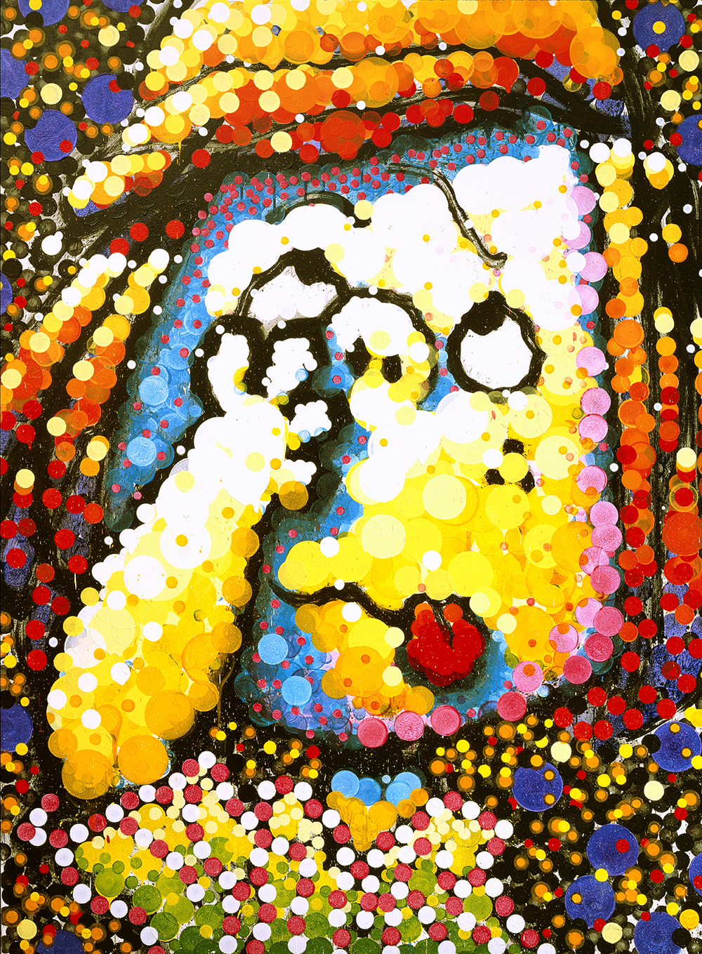 Sophisticated Mama | acrylic enamel and varnish on canvas | 102″ x 74″ | 2003