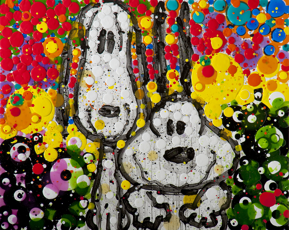 Bros | acrylic and varnish on wood | 48″ x 60″ | 2010