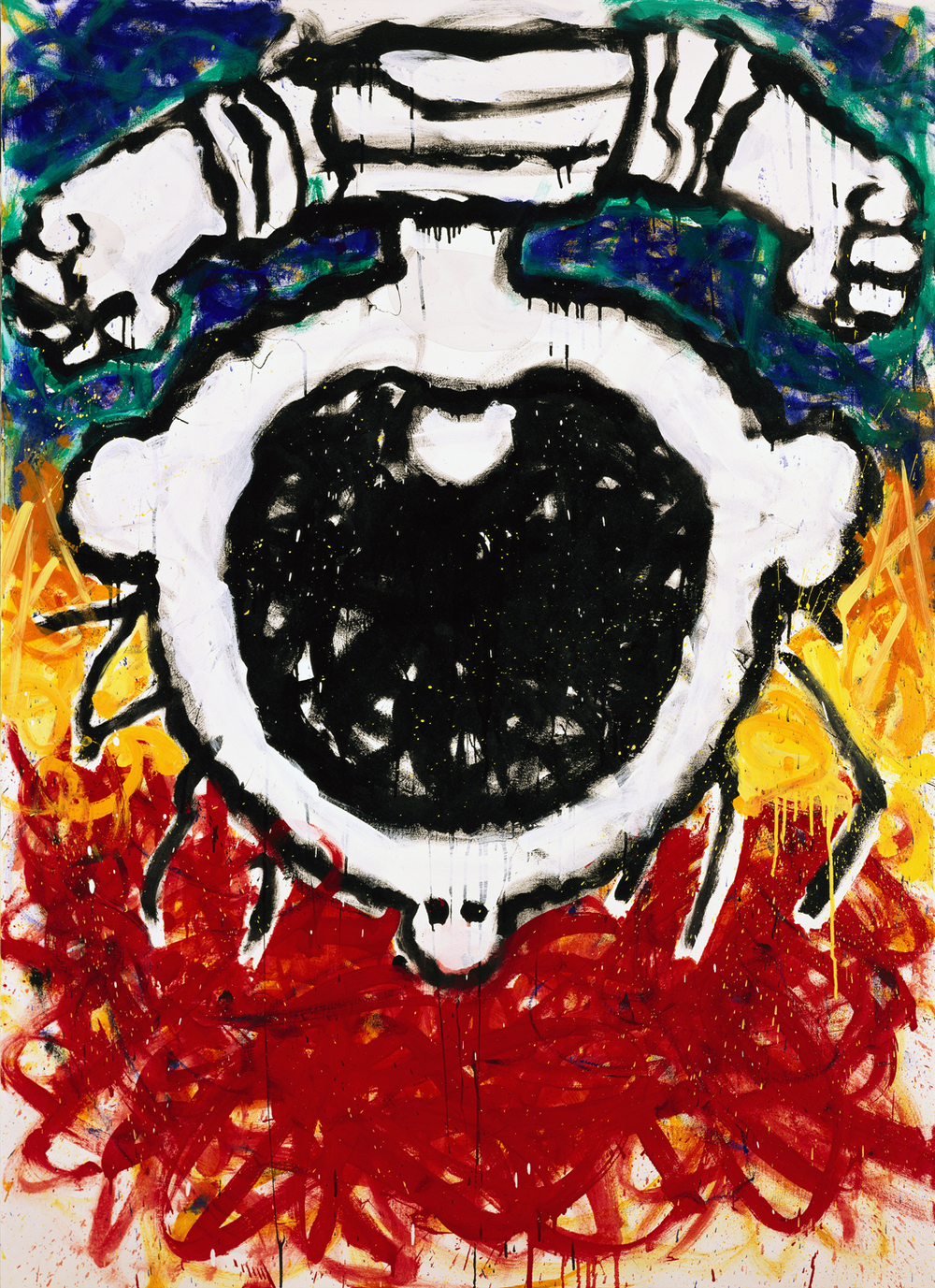 The Upside Down Scream | oil and varnish on canvas | 72″ x 52″ | 1995