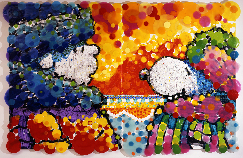 Cracking Up | acrylic enamel and varnish on canvas | 90″ x 134″ | 2006