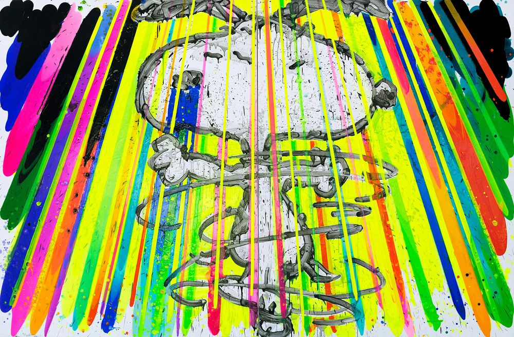 I'm So Fancy | Acrylic and Varnish on Canvas | 84' x 128' | 2015