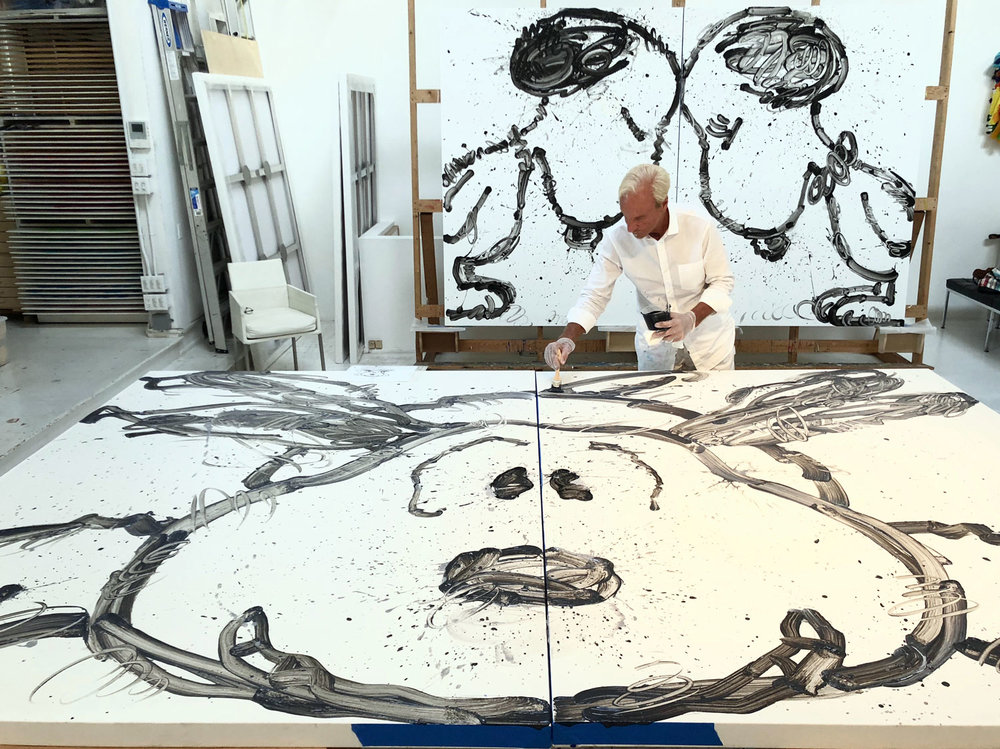 Tom Everhart in progress with Have Mercy.
