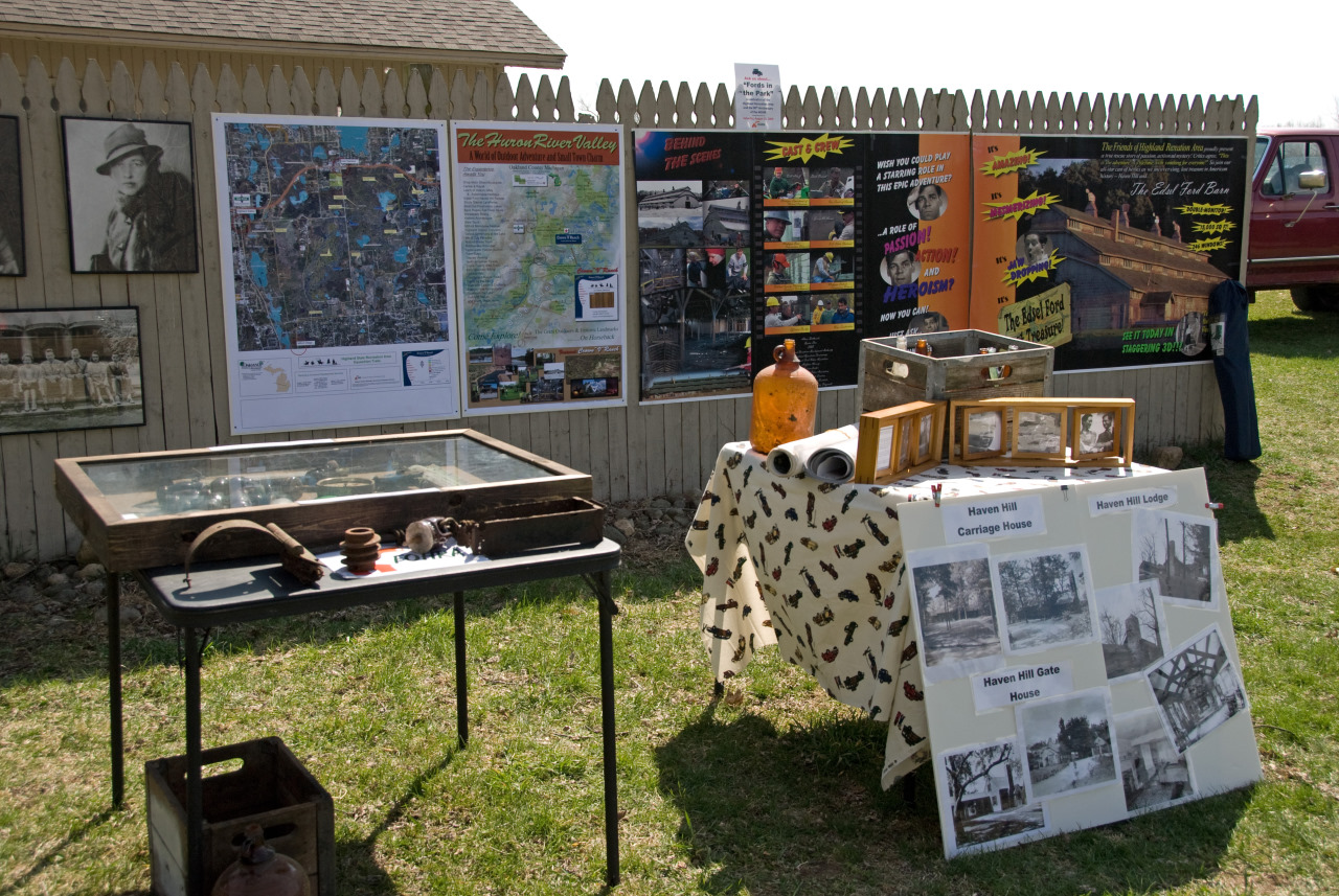 A Section of the Friends of Highland Recreation Display at the Opening of the Crown V Ranch