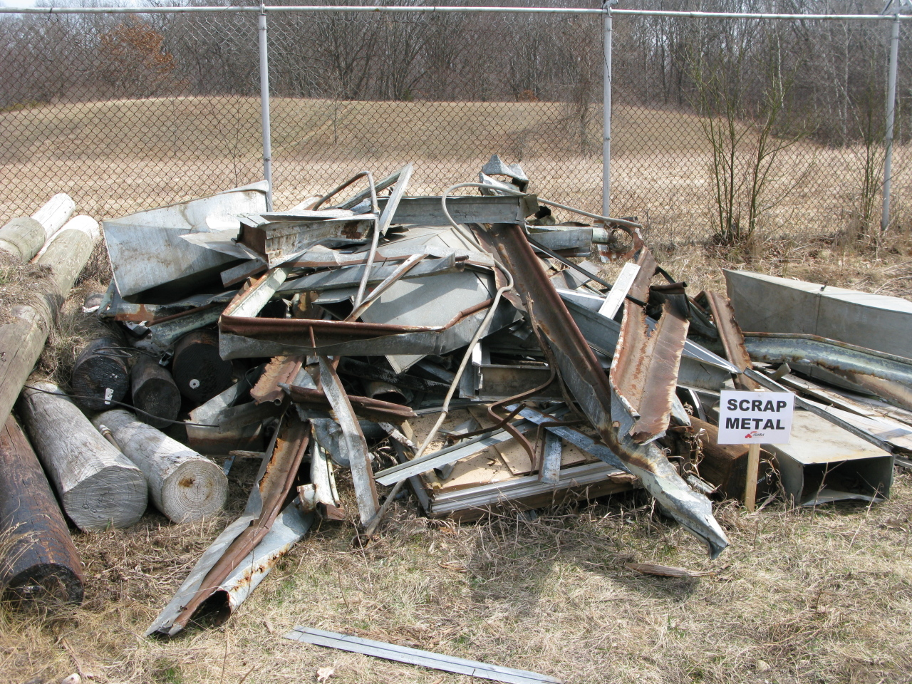 A Metal Sorting Location at the Edsel Ford Barn