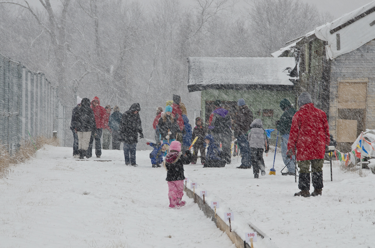 Families enjoyed snow snaking in 2012 even in heavy snow.