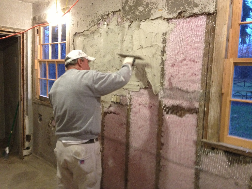 Plastering the Haven Hill Gate House