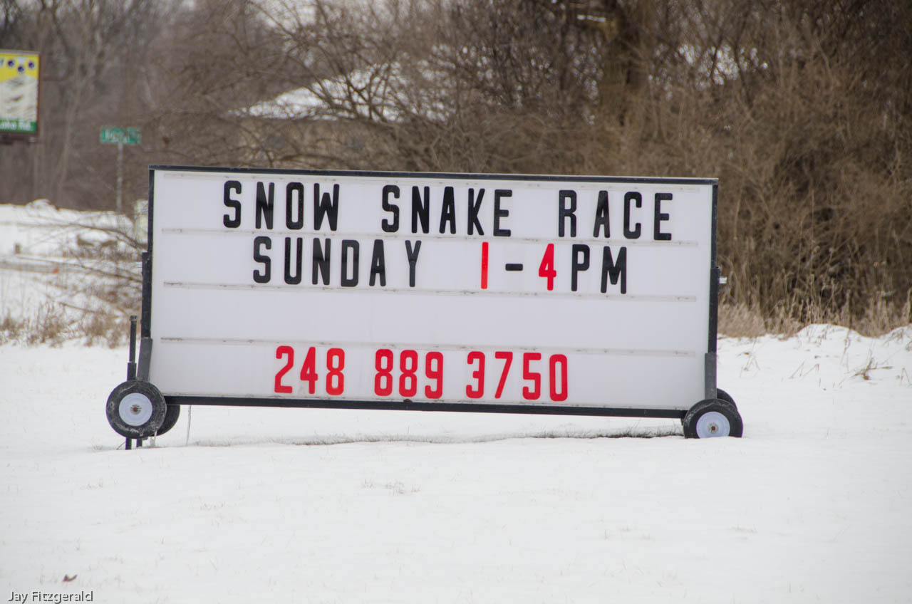 Snow Snake Event at HRA - January 2013